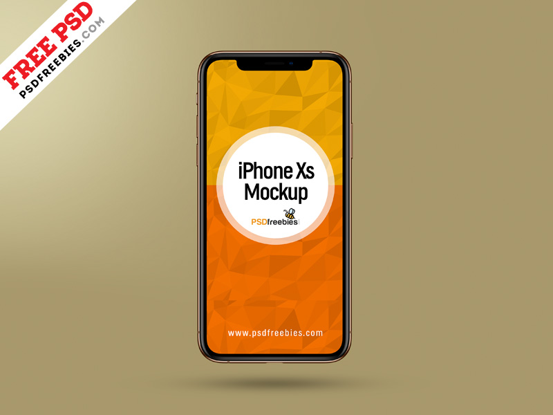 Apple iPhone Xs - Free Mockup