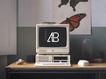 Retro IBM Desktop - Free Mockup
