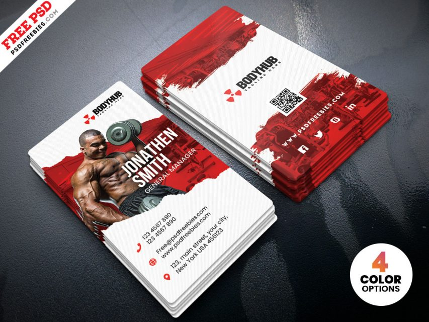 Vertical Fitness Gym – Free Business Card