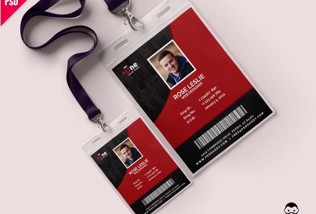 Free Office Photo Identity Card PSD