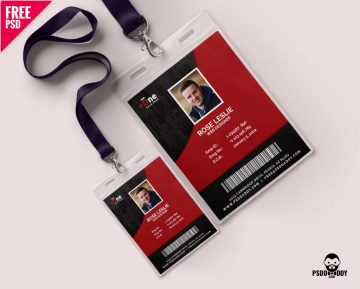 Free Office Photo Identity Card PSD