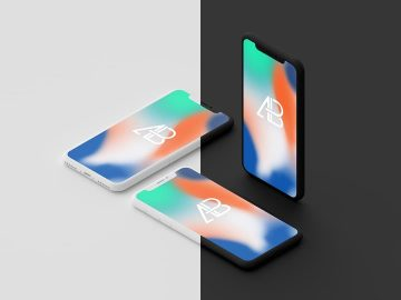 Clay iPhone X - Free Mockup