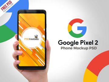 Google Pixel 2 Phone - Free Mockup