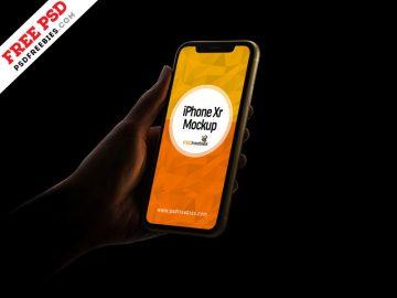 iPhone Xr - Free Mockup
