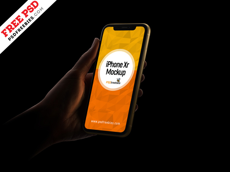 iPhone Xr - Free Mockup