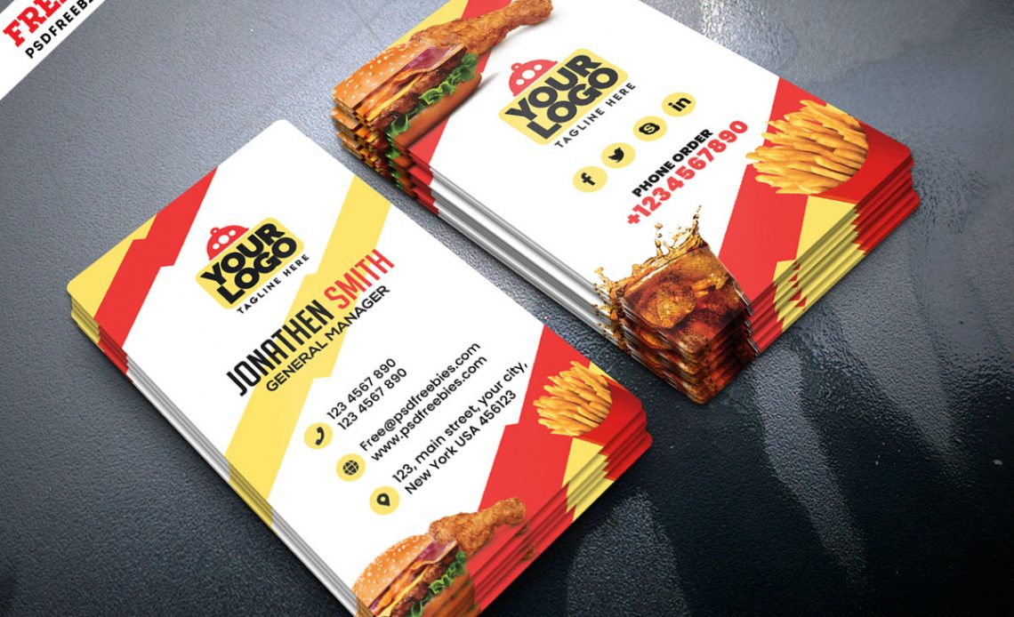 Free Food Restaurant Business Card