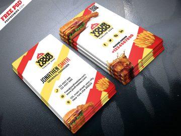 Free Food Restaurant Business Card
