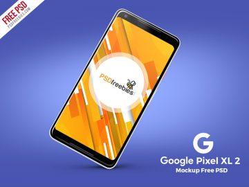 Google Pixel 2 XL - Free Mockup