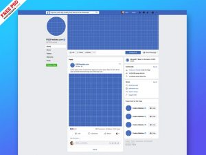 New Facebook Page Free Mockup