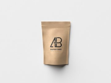 Paper Bag Packaging - Free Mockup