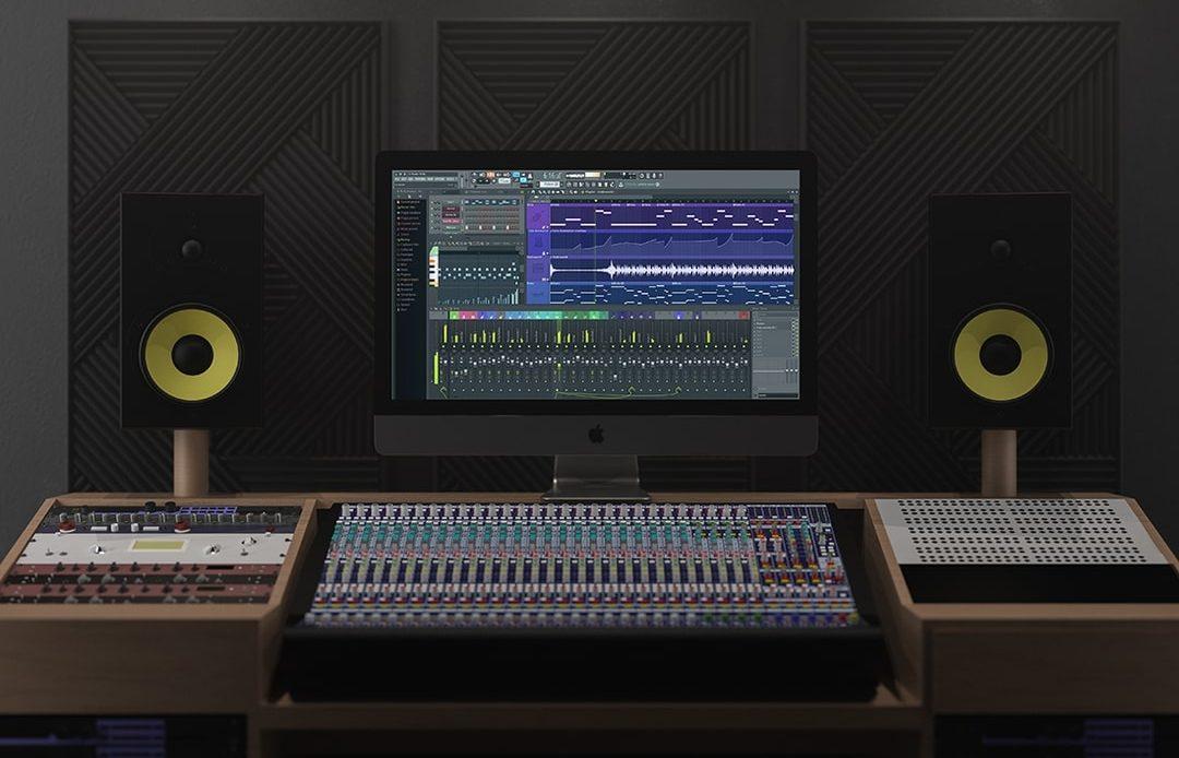 iMac Pro In Music Studio Free Mockup