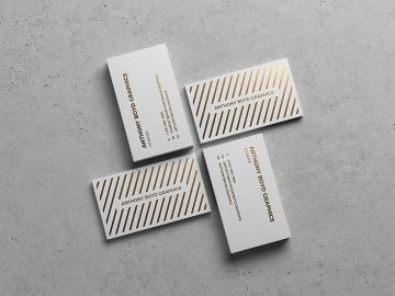 Modern Business Card Showcase - Free Mockup