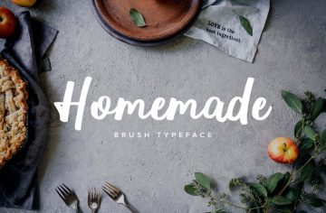 Homemade Brush Typeface - Free Font