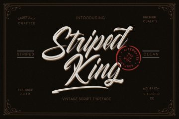 Striped King Hand-lettering - Free Script Font