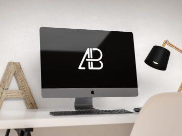Modern iMac Pro - Free Mockup