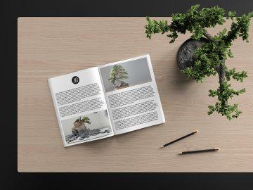Modern Catalog Magazine - Free Mockup