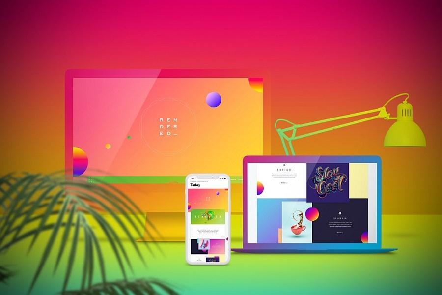 Free Web Showcase Mockup