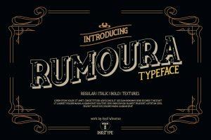Rumoura Retro Free Font