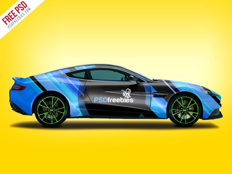 Aston Martin Car Branding Free Mockup
