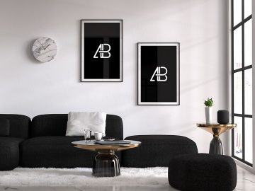 Free Modern Double Poster Mockup