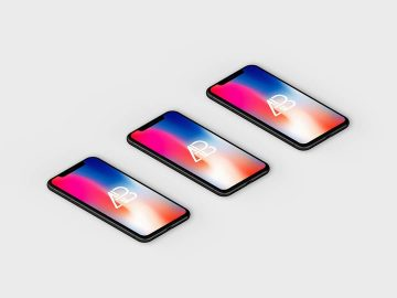 Isometric iPhone X - Free Mockup