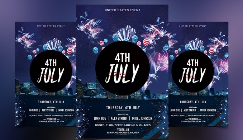 4th July PSD Free Flyer Template