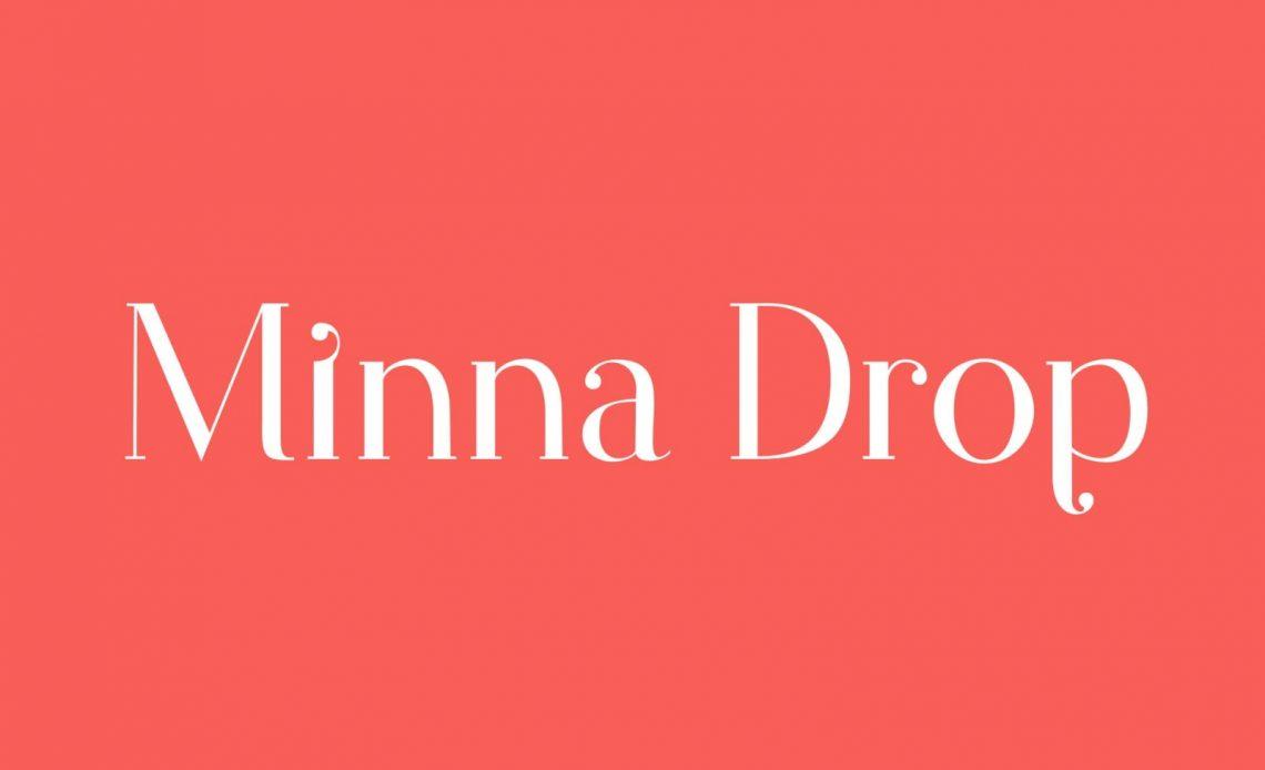 Minna Drop Free Font Typeface