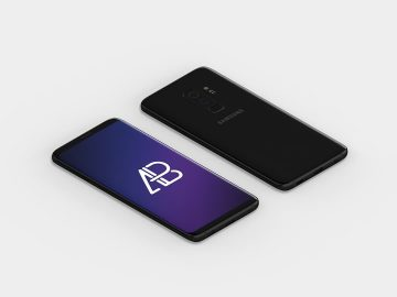 Isometric Samsung Galaxy S9 Plus - Free Mockup