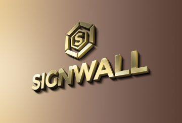 Free Sign Wall Logo Mockup
