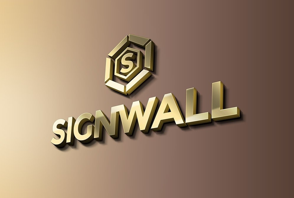 Free Sign Wall Logo Mockup