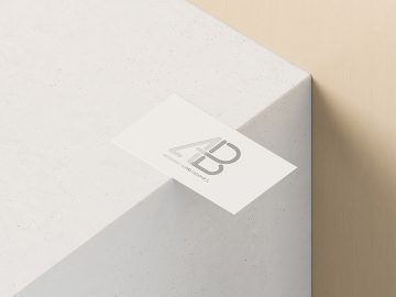 Free Business Card With Cutout Mockup