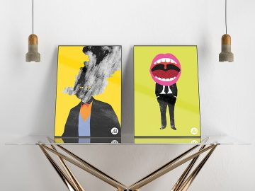 Modern Double Poster - Free Mockup