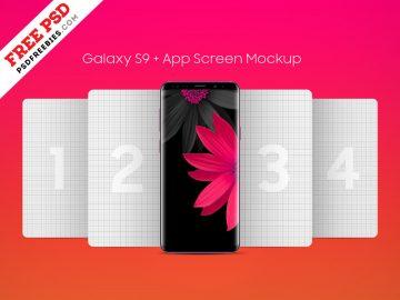 Galaxy S9 Plus App Screen - Free Mockup