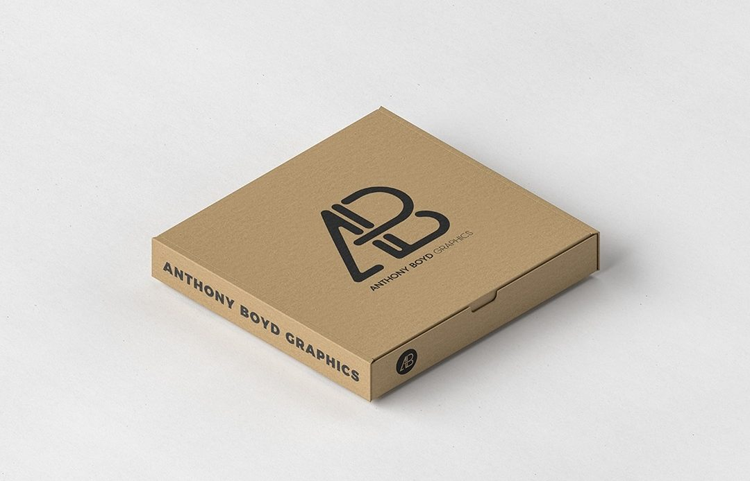 Free Pizza Box Packaging Mockup