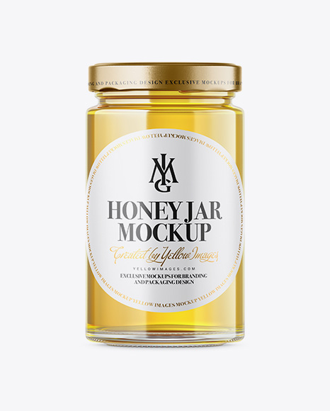 Free Pure Honey Jar Mockup