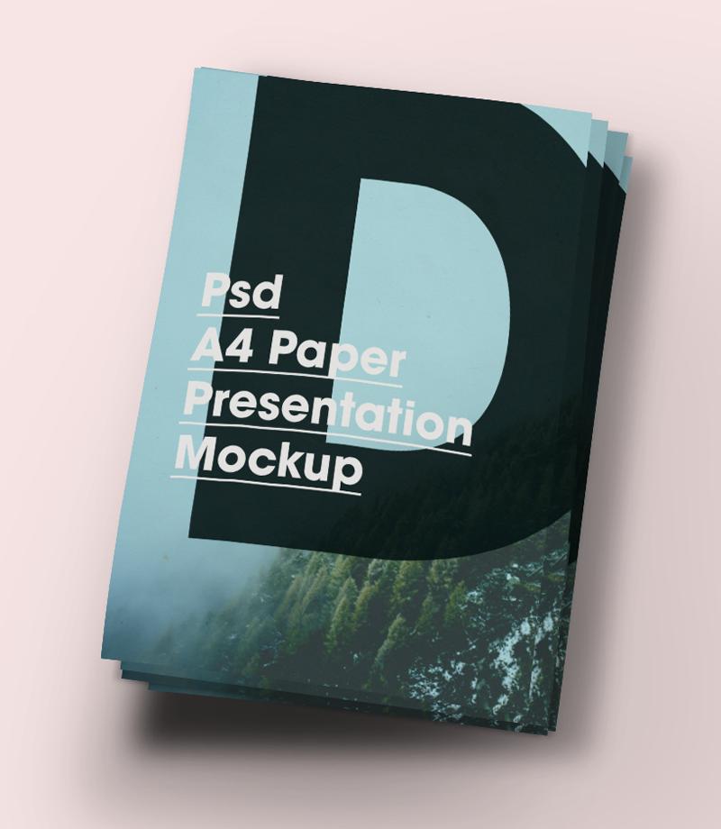 Free A4 Paper Brochure/Flyer Mockup