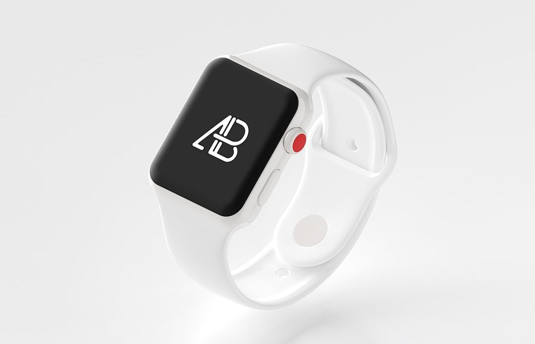 Ceramic Apple Watch Free Mockup
