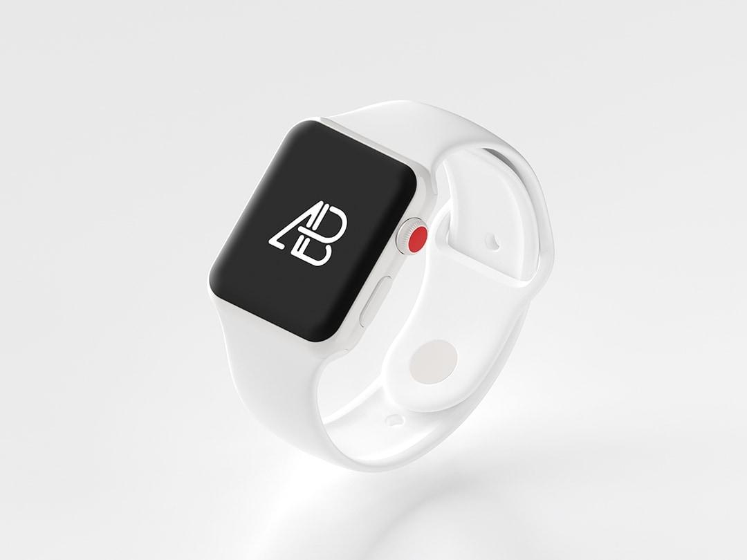 Ceramic Apple Watch Free Mockup