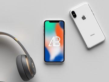 Modern iPhone X - Free Mockup