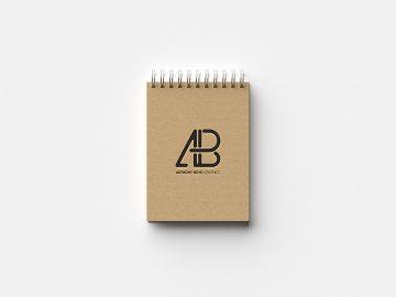 Free Modern Notebook Mockup