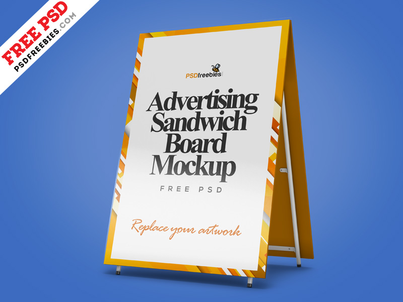 Advertising Sandwich Board - Free Mockup