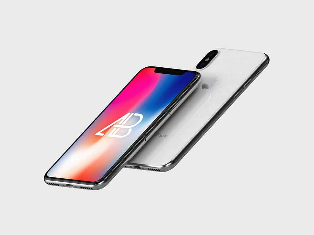Floating iPhone X Free Mockup