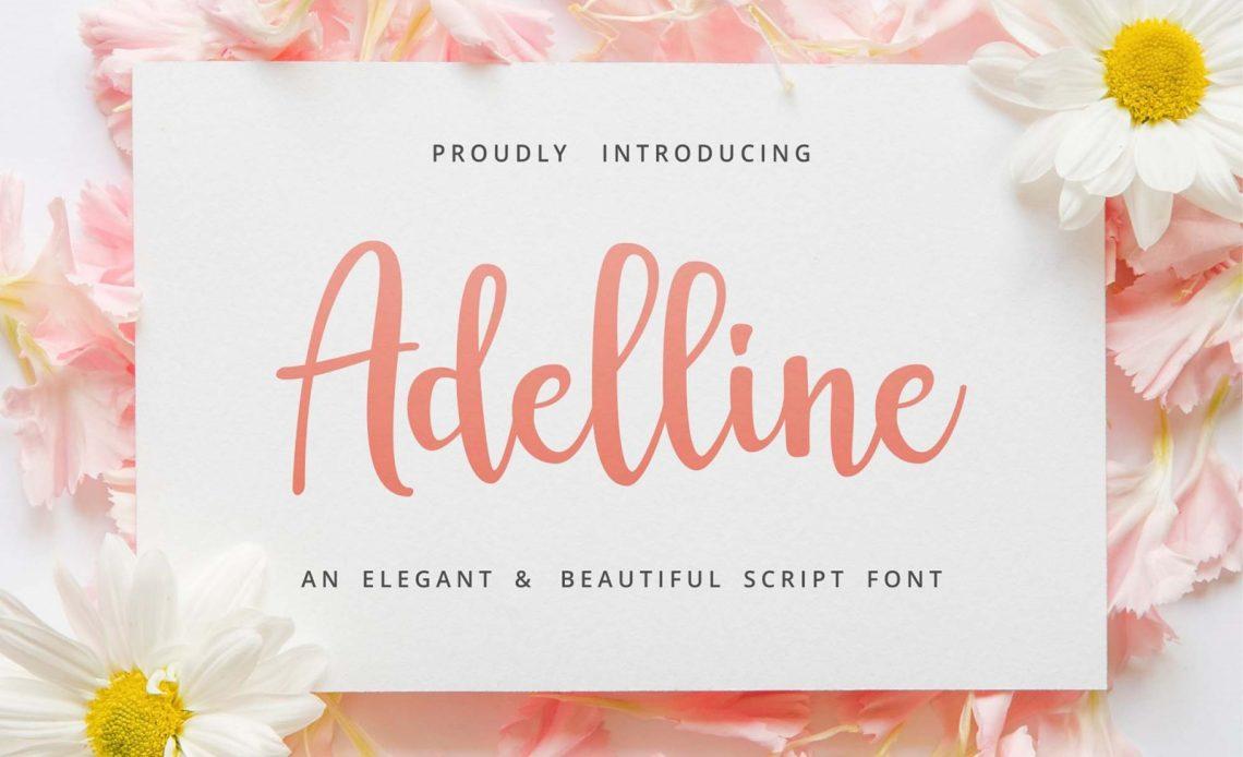 Adelline Script Free Font