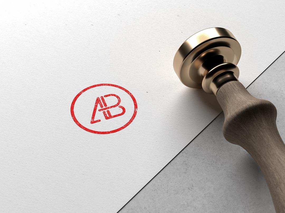 Modern Stamped Logo Free Mockup