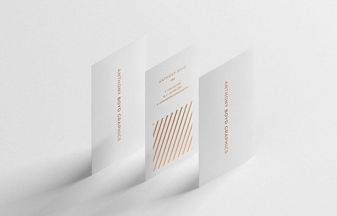 Modern Vertical Business Card - Free Mockup