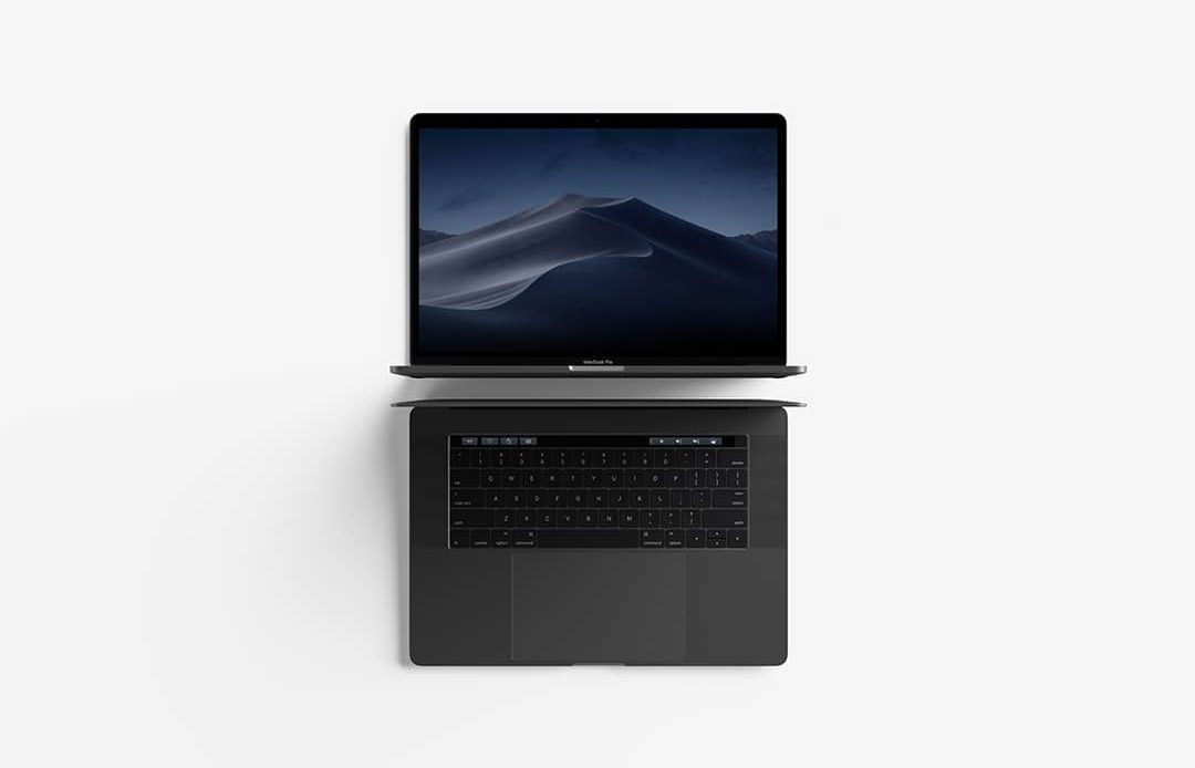 Modern Top View MacBook Pro Free Mockup