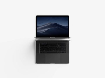 Modern Top View MacBook Pro - Free Mockup