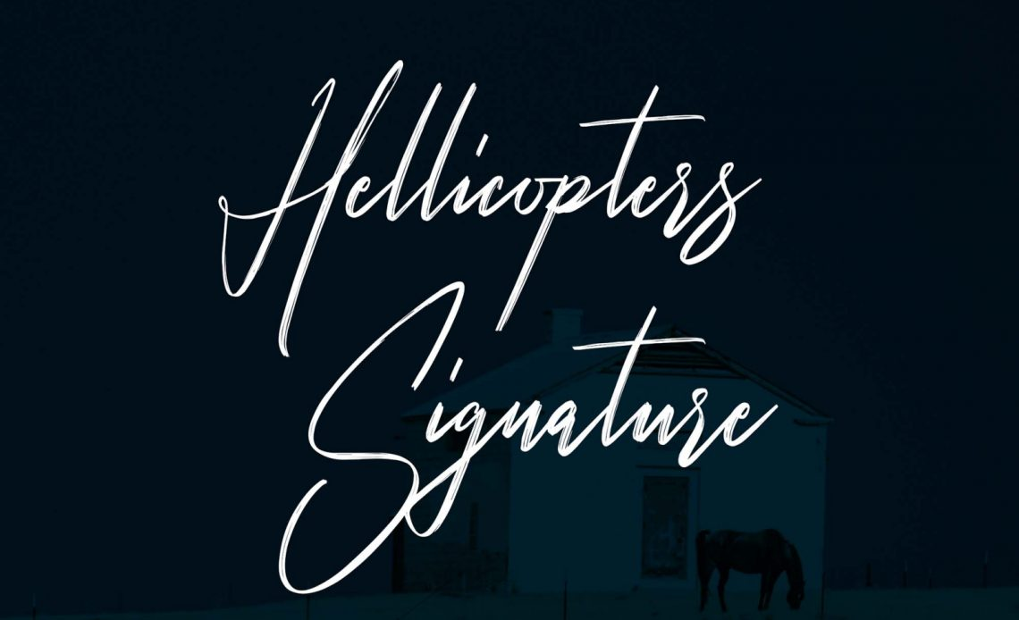 Hellicopters Free Script Font