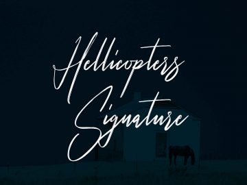 Hellicopters - Free Script Font