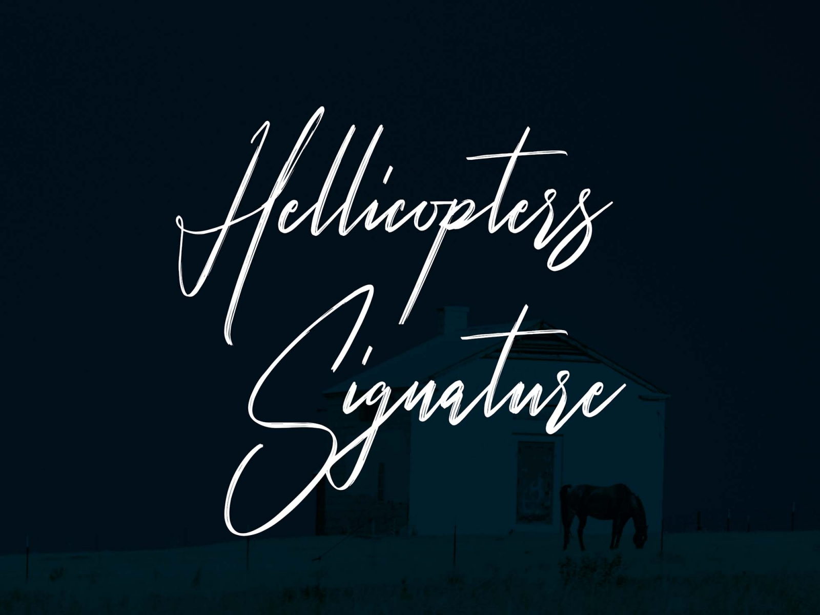 Hellicopters – Free Script Font